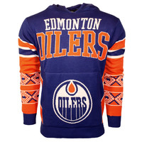 Edmonton Oilers NHL 2015 Big Logo Ugly Pullover Hoodie Holiday Sweater
