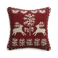 """Donner 18"""" Pillow in Christmas Decorating   Crate&Barrel"""
