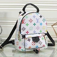 LV Louis Vuitton color men and women all-match backpack