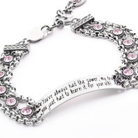Engraved ID Bracelet, Glinda the Good witch