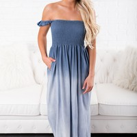 Perfect Opportunity Maxi Dress (Navy)