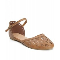 New Women's Fashion Leatherette Ankle Strap Flat Sandals TAN