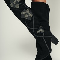 Beautiful Tomorrow Floral Not Rated Boots (Black)