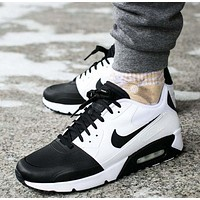 NIKE AIR MAX 90 Fashion Ladies men running sports shoes sneakers Black&White