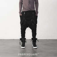Dual Zipped Big Pocket Drop Crotch Jersey Pants - restock