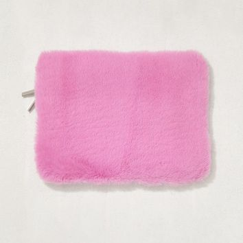 """Pink Furry 13"""" Laptop Sleeve   Urban Outfitters"""