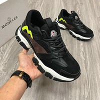Moncler Fashion Men Women's Casual Running Sport Shoes Sneakers Slipper Sandals High Heels Shoes