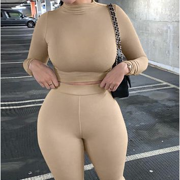 New Hot Slim Long Sleeve Breathable Yoga Sports Suit