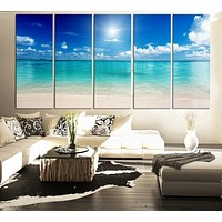 LARGE CANVAS ART Print Sea and Beach Art Canvas Print for Home Decoration Large Seascape