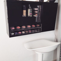 Wall Mounted Makeup Organizer Vanity
