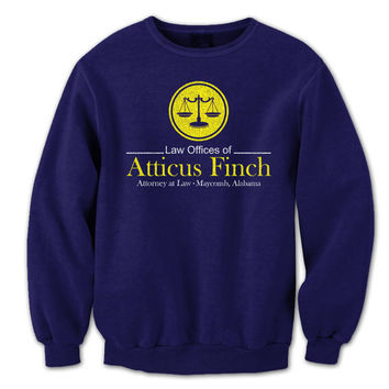 ATTICUS Finch Law Office - to kill a mockingbird story movie law-firm funny lawyer attorney cute top new - Unisex Mens Sweat-shirt DT0765