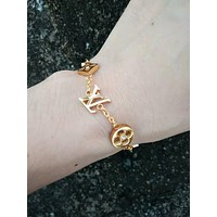 LV Tide brand flower logo female models wild bracelet gold