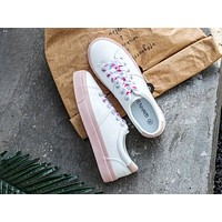 Alwayn Alexander McQueen 2019 new women's versatile flat white shoes