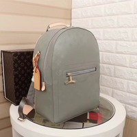 LOUIS VUITTON Montsouris GM Backpack gray