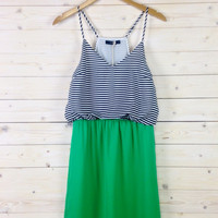 Green Thumb Stripe Dress