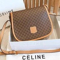 Celine Fashion new pattern leather shopping leisure shoulder bag crossbody bag