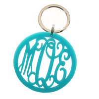 Acrylic Monogrammed Keychain- Colors from the Palm Gifts - Unique Monogrammed Gifts for Every Occasion