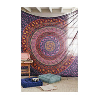 Beautiful Floral Mandala Handmade Wall Hanging Large Decorative Tapestry Hippie Tapestries Dorm Decor – TheNanoDesigns
