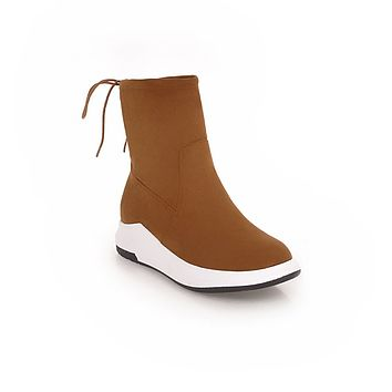 Fall Winter Platform Ankle Boots Women Shoes 3989