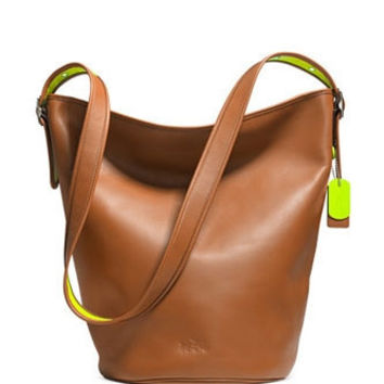 Coach C.O.A.C.H. Neon Duffle Shoulder Bag In Calf Leather
