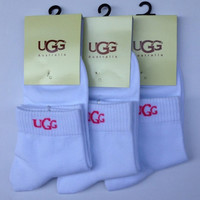 UGG Woman Casual Sport Embroidery Thick Socks Stockings