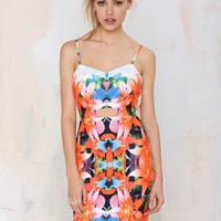 Tiger Mist Tropicana Cutout Dress