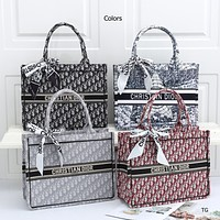 DIOR Hot Sale New Products Fully Printed Letters Ladies Shopping Handbag Shoulder Bag