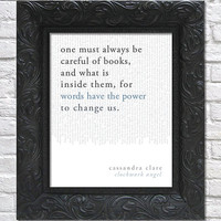 literary art print / book quote // the infernal devices, book 1: clockwork angel; cassandra clare