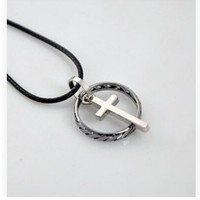 Jewelry Gift New Arrival Stylish Shiny Stainless Steel Couple Ring Korean Gifts Titanium Cross Rack Pendant Accessory Necklace [6544432003]