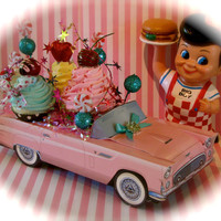 """Fake Cupcake Retro Car """"Sweet Joy Ride"""" Collection by 12 Legs Curiosities Fab Party Decor/Centerpiece for Candyland & Sweet 16 Birthdays"""