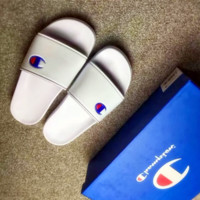 Summer prints men and women slippers beach shoes
