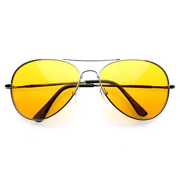 Retro Metal Color Tinted Lens Aviator Sunglasses 8405 59mm