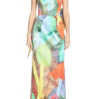 Milly 'Lyla' Floral Print Column Gown | Nordstrom