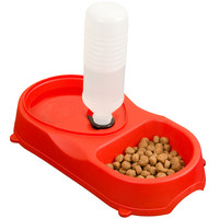 Evelots Premium Pet Feeder With Food Bowl & Automatic Water Refill Bottle System