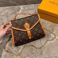 LV Fashion classic Presbyterian vintage postman bag ladies bag with one shoulder cross-body
