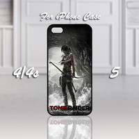 Tomb Raider A Survivor is Born, Design For iPhone 4/4s Case or iPhone 5 Case - Black or White (Option)