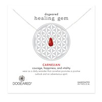 Dogeared - Healing Gem Carnelian Necklace in Stearling Silver
