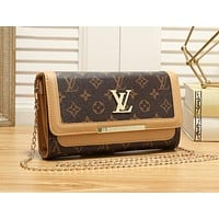 LV Louis Vuitton Trending Women Leather Crossbody Shoulder Bag Satchel Khaki
