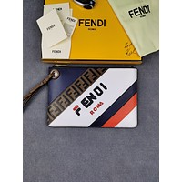 Fendi Men's Zipper Shoulder Bag Crossbody Bag Handbag Men's Business Bag Classic Clutch Bag
