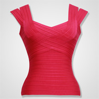 Summer New Fashion Womens Red Bandage Tops 5 Colors Available