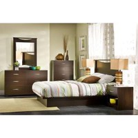 South Shore Furniture Bedtime Story Wood Laminate Full-Size Platform Bed in Chocolate 3159234 at The Home Depot - Mobile