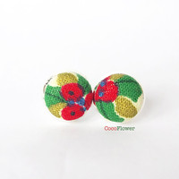 Christmas Stud Earrings , holly earring stud, winter post ,   ugly sweater party  , Christmas Gifts