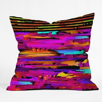 Holly Sharpe Colorful Chaos 2 Throw Pillow