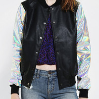 CULT By Lip Service Hologram Bomber Jacket - Urban Outfitters