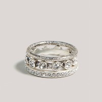 AE Rhinestone Stacked Rings | American Eagle Outfitters