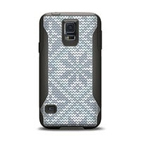 The Knitted Snowflake Fabric Pattern Samsung Galaxy S5 Otterbox Commuter Case Skin Set
