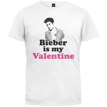 Valentine's Day - Bieber is my Valentine White Youth T-Shirt