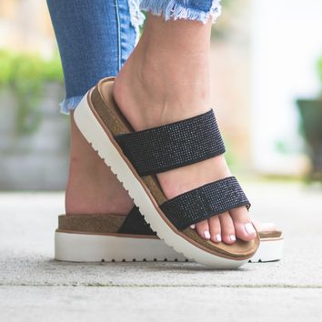 Strappy Sparkle Sandal Wedges