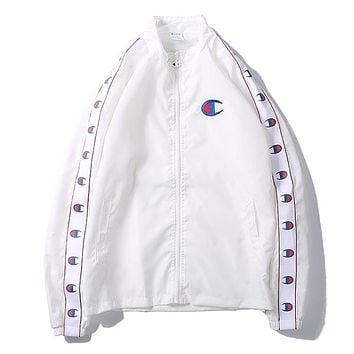 Champion Woman Men Fashion Cardigan Jacket Coat Windbreaker