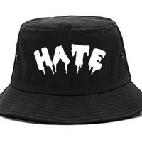 Kings Of NY Hate Goth Blood Font Bucket Hat Cap